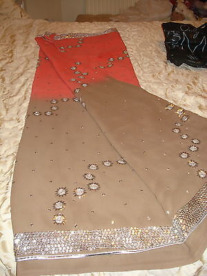 Ladies / Girls Wash & Wear Saree With Gota Patti Silver Work Throughout 5