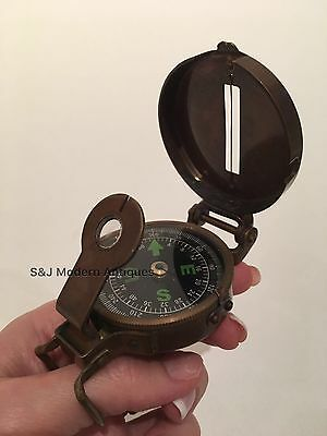 Soldiers Military Thumb Compass Vintage Brass WW2 1940 Navigation World War II 2