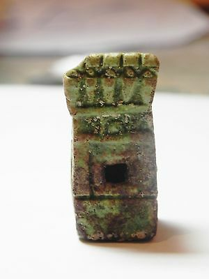 Zurqieh - 50H- Extremly Rare Ancient Shrine Faience Amulet. 1075 - 600 B.c