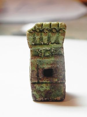 Zurqieh - 50H- Extremly Rare Ancient Shrine Faience Amulet. 1075 - 600 B.c 3