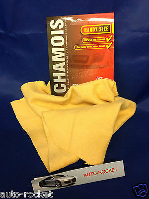 Genuine Real Leather Chamois Oil Tanned Cloth Chammy Car Drying & Cleaning 2