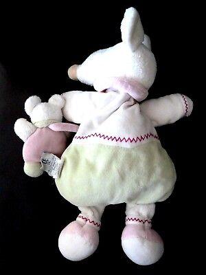 Doudou Souris Barbotine Doudou /& Compagnie en cape ballon blanc vert rose 24 cm