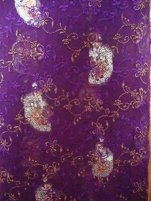 Pakistani Unstitched Designer Shalwar Kameez Heavy Embroidery Crinkle Material