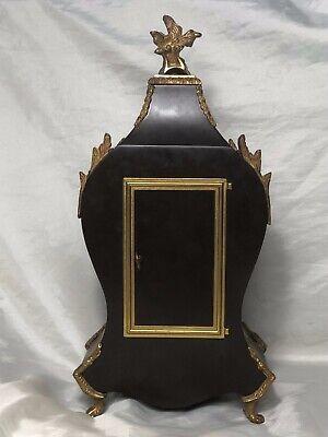 1 Large Antique Louis XVI French Style Gilt Ormolu Boulle Mantle Clock 11