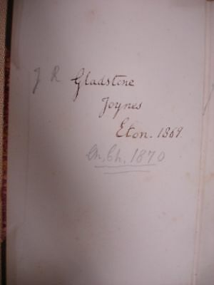 Alcestis of Euripedes signed by Mr. Gladstone (relative) - 1864 2 • CAD $220.21