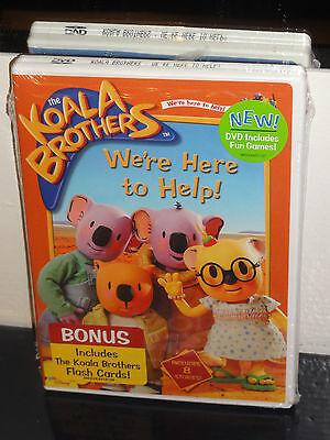 THE KOALA BROTHERS - We're Here To Help! (DVD) Bonus Koala Brothers Flash  Cards!