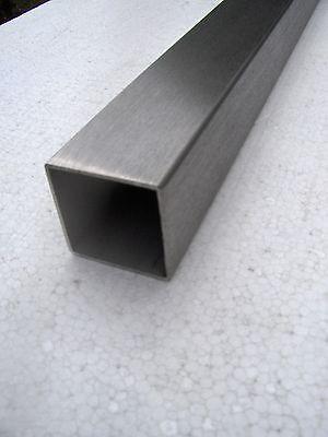 2 m Quadrat-Rohr 25x25 x 2 EDELSTAHL K240 Vierkantrohr
