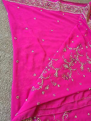 Saree- Bollywood Fashion Wedding Party Wear Heavy Designer Sari Indian Asian 4