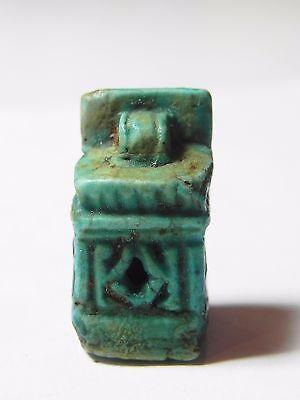 Zurqieh -Abq2- Extremly Rare Ancient Shrine Faience Amulet. 1075 - 600 B.c 2