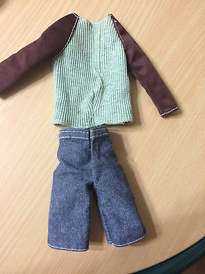 Barbie My Scene Ken Bryant Doll Outfit Cloth Dog T-shirt Jean Denim Shorts