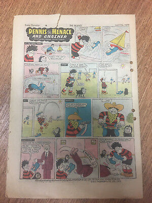 Beano Comic No 1929 July 7th 1979, Vintage Dennis the Menace, FREE UK POSTAGE