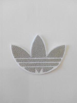 Parche bordado para  pegar , termoadhesivo estilo Adidas 7,5/5,5 cm adorno ropa 2