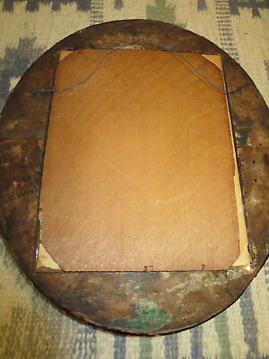 """2 Antique Edwardian Carved Wood 14"""" by 12-1/4"""" Oval Picture Frames 9"""