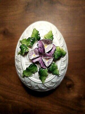Boite œuf en porcelaine et barbotine 2