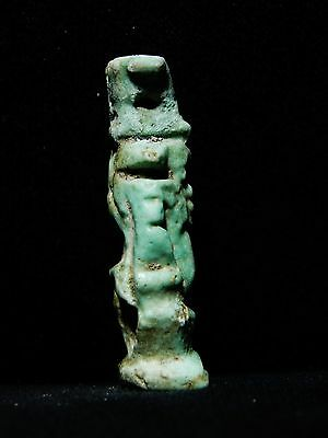 Zurqieh - Ancient Egypt . Beautiful Large Amulet Of Bes,  1075 - 600 B.c 2