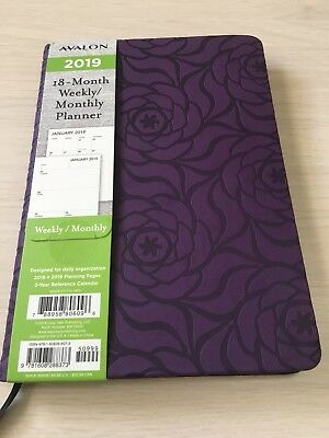 2019 AVALON 18-Month Weekly/Monthly Calendar Planner Appointment Book PURPL