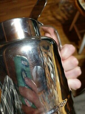 Vintage ITALIAN Silver Plated Vacuum Pitcher 7