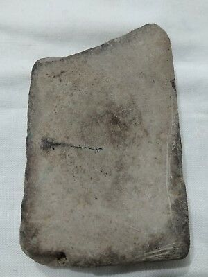 RARE Ancient Indian Clay Tablet Decorated with Swastika and Ornate Patterns!! 3