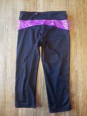 3 Pc Girl's Active Wear Lot Cropped Capri Leggings Spandex Shorts Gray Black - S 3