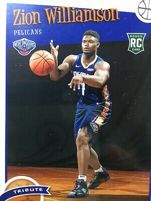 ZION WILLIAMSON ROOKIE CARD JERSEY #1 PELICANS RC 2019-20 Panini HOOPS rookie rc 3