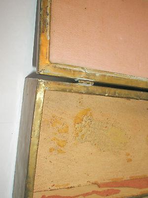 Vintage 1910 Apollo Studios NY Hammered Copper Arts & Crafts Wood Lined Desk Box 10