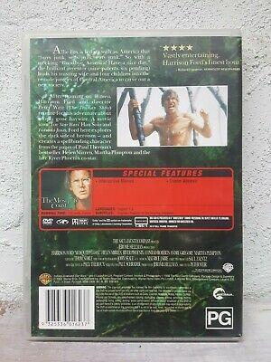 River Phoenix Movie - THE MOSQUITO COAST- DVD - 1986 RARE Survival Thriller ! R4 2