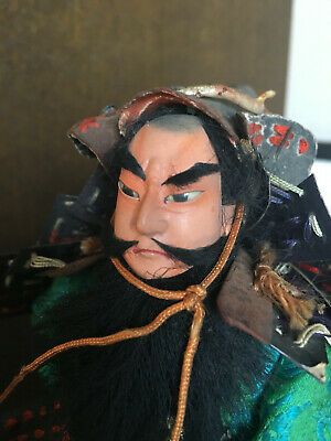 32cm Japanese Antique SAMURAI Armor YOROI Doll MUSHA NINGYO with Horse 3
