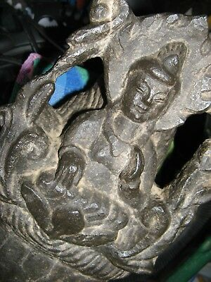 Antique Large Chinese Carved Stone Buddha Head 36 Lbs. 7