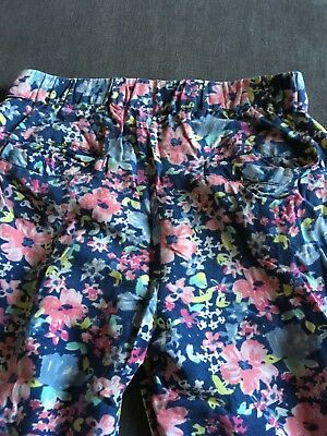 Next Girls Blue Pattern Trousers Size 7 Years Good Condition 5