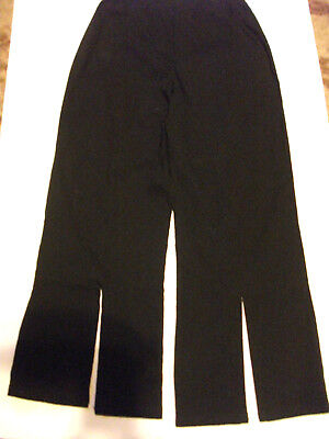 Girls Black trousers with pink flowers on one side leg age 8 FOR GIRLS 2