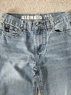 Giogio Boys Blue Straight Casual Jeans 11-12 Years 8