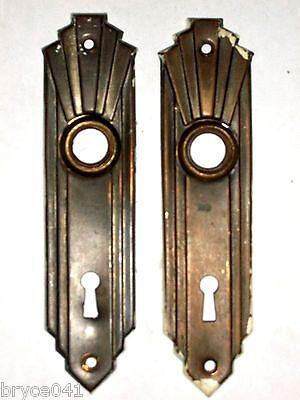 Antique Art Nouveau Mortise Lock and Backpates 2
