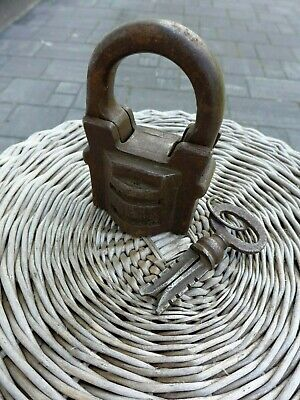 Antique Large Padlock With One Working Key Unique Made in Russia 27-01 4
