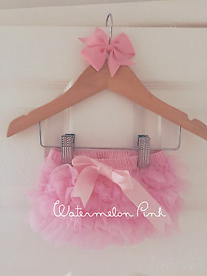 Deluxe Girls Baby Frilly Tutu Knickers Cake Smash Photoshoot 1st Birthday Outfit 8