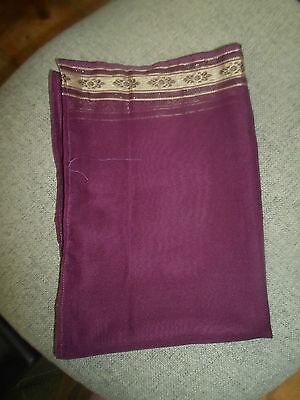 1 NEW Mixed Fibre Ladies Scarf Purple+Subtle Pattern Each End~ Gift Idea #61 2