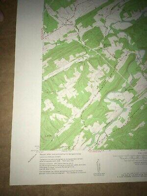 McCoysville PA. Juniata Co USGS Topographical Geological Survey Quadrangle Map 4