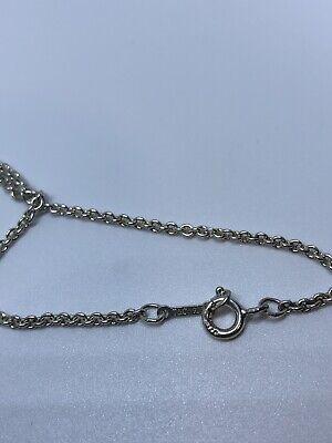 Authentic Tiffany&Co Elsa Peretti Open Heart Pendant Necklace 4