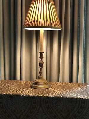 Antique Gilt Bronze Neoclassical French Candlestick Lamp 7