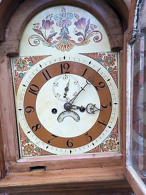 pine grandfather clock reduced£495 9