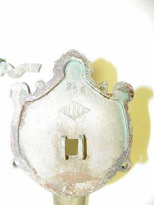 Antique Vintage WEISER #255 Front Door Entry Handle ~ Plated Brass?   12 Inch 8