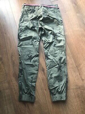 Next Girls Green Star Belted Trousers - Age 11 Years 3