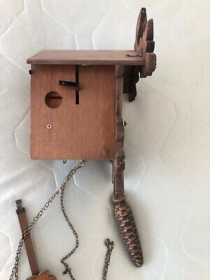 Vintage REGULA Hand Made Wooden Black Forest Cuckoo Clock Made in Germany 6