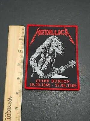 Metallica Band Cliff Burton patch t-shirts, Jeans Iron on Clothing Woven Badge 3