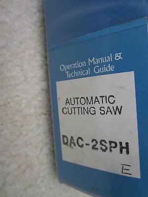 Original Manual Disco Automatic Cutting Saw Dac-2Sph 2