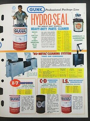 """Vintage 1978 GUNK """"Cleaning Problems End..With GUNK Solutions"""" Jobbers Catalog 8"""