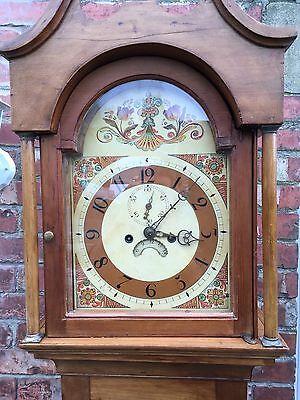 pine grandfather clock reduced£495 4