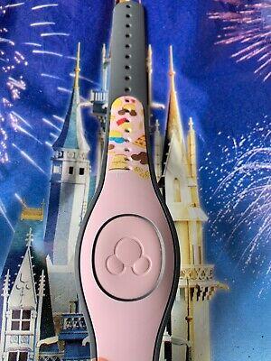 Disney Parks Magic Band Magicband Snacks Dole Whip Pretzel Mickey Bar LIGHT PINK 2