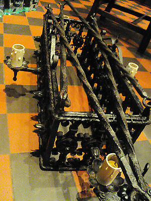 Arts&Crafts Medieval Castle Gothic Wrought Iron Chandelier,black,Harry Potter 5