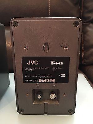 Vtg RARE Metal JVC S M3 Bookshelf 50W Hifi Stereo Speakers Made In Japan