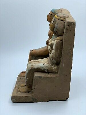 ANCIENT EGYPTIAN EGYPT ANTIQUES STATUE Akhenaten and Nefertiti 1345–1337 BCE -R 7